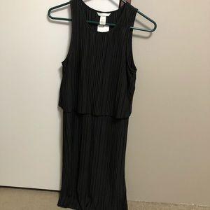 Black dress with an overlay